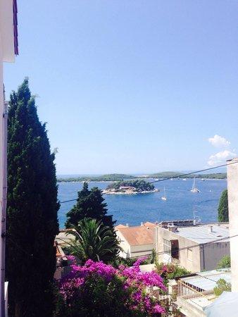 Villa Milton Hvar: View from the balcony