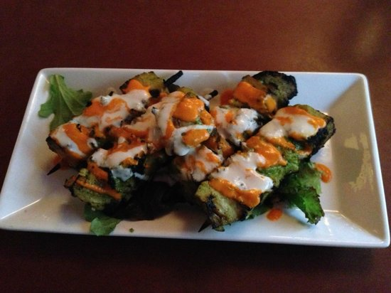 Candle 79: grilled seitan skewers