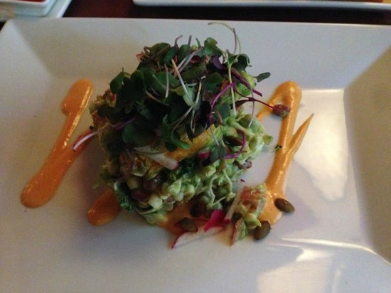 Candle 79: raw stuffed zucchini blossom salad