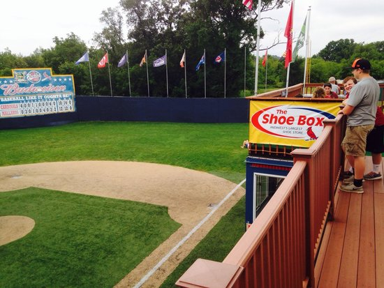 Rookies Food & Spirits: First base line box seats overlook the field.