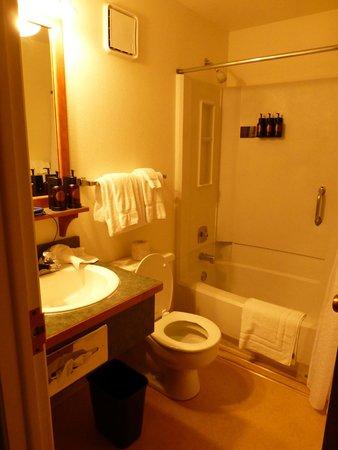 Grant Village Lodge : Bathroom with toiletries