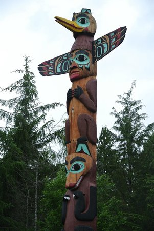 Saxman Native Village: totem pole