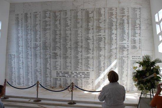 USS Arizona Memorial: Names