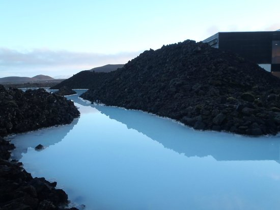 Blue Lagoon Iceland : The area surrounding the lagoon.