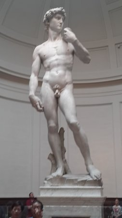 B&B Tourist House Ghiberti: The real statue of David in the Museum again 3 min walk from Hotel.
