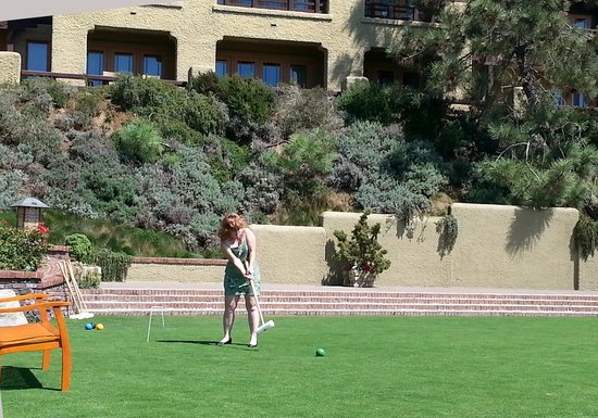 A.R. Valentien at The Lodge at Torrey Pines : The Croquet lawn