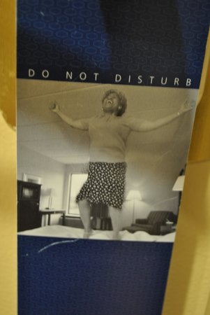 Hilton Parsippany: I got a kick outa' this door hanger