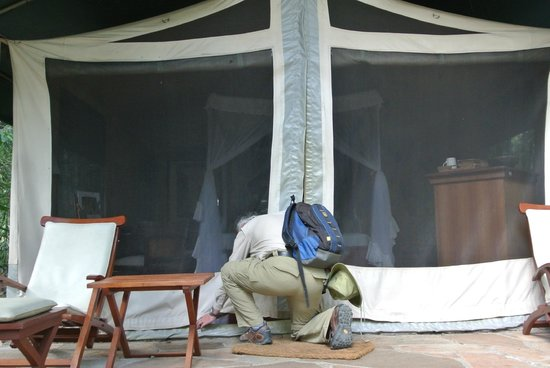 Mara Intrepids Club: You have to carefully close your tent as things may get in