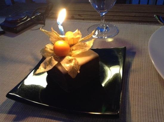 Coda Restaurant : special dessert for our anniversary