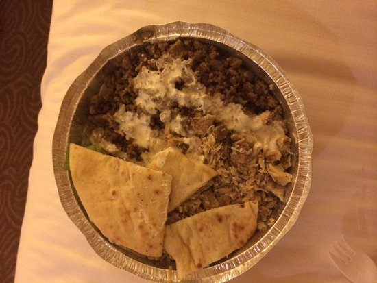The Halal Guys : Lamb and chicken over rice