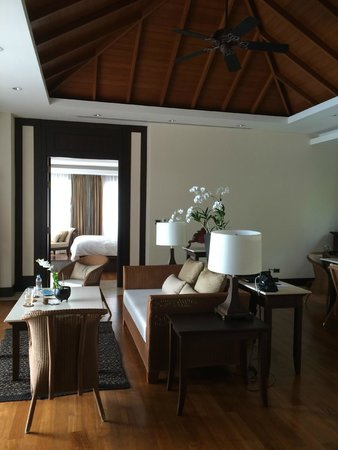 Trisara Phuket: Living room and looking into main room