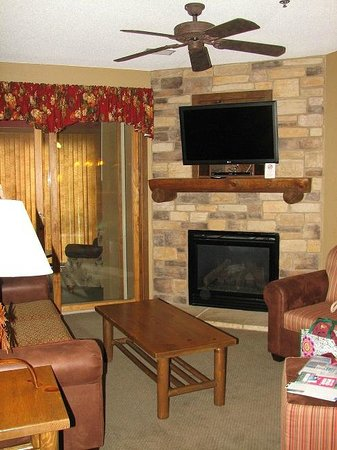 Wilderness on the Lake : Living room in two-bedroom condo