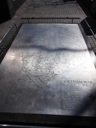 New York City Vietnam Veterans Memorial Plaza: Map of Vietnam