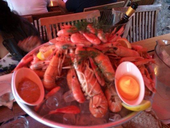 Marstrands Wardshus : Seafood platter