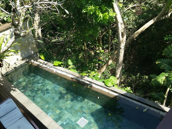 Gending Kedis Villas & Spa Estate : View of private pool from lounge upstairs