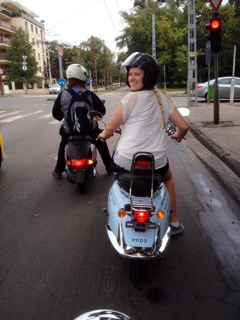 Budapest Scooter Tour : First time rider's smile says it all!