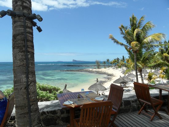 Canonnier Beachcomber Golf Resort & Spa : Vue depuis le restaurant