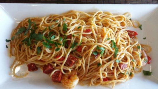 Amici Ristorante Portstewart: chilli prawns