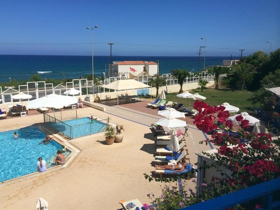 Hotel Rethymnon Mare : Terrassenblick
