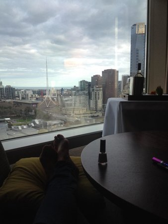 Grand Hyatt Melbourne: View from the comfy couch