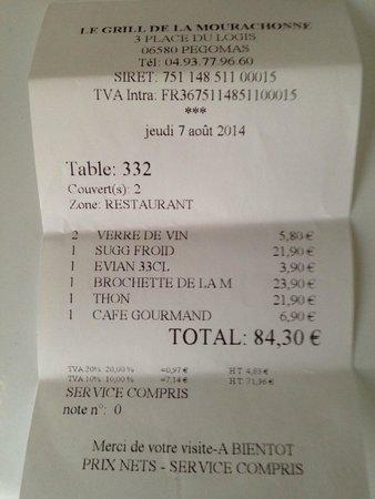 Pegomas, Francia: ticket