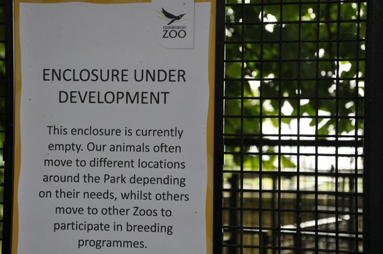 Edinburgh Zoo: So many of these notices