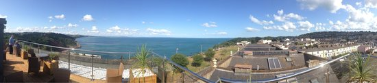 Babbacombe Bay Hotel: Panorama from the Roof Terrace