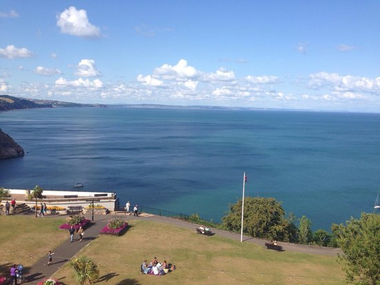 Babbacombe Bay Hotel: View from our window.