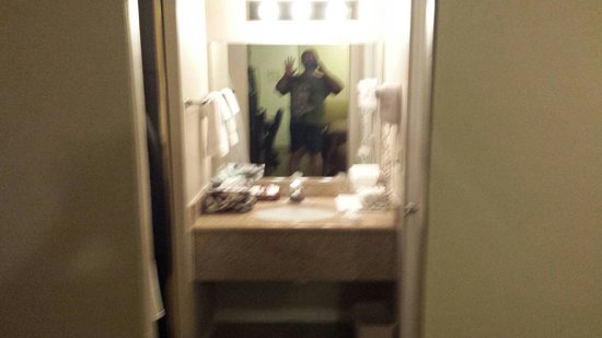 Ramada Fresno North: Small but adequate sink area by closet