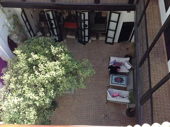 Dar Charkia: aerial view of courtyard