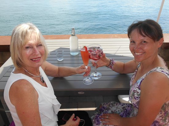 The Waterfront Restaurant: Happy customers