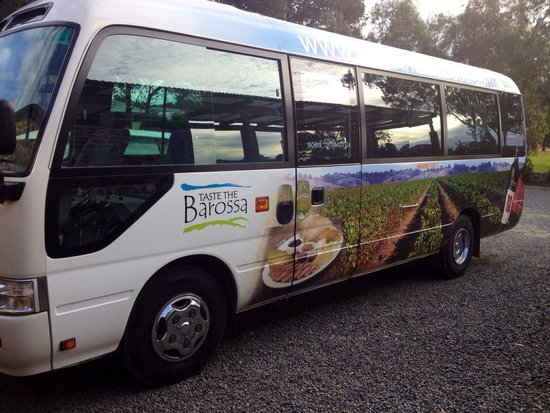 Taste the Barossa: Our very modern & comfy bus for the day
