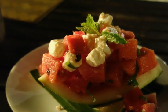 Beachlounge - Thong Sala: Watermelon with cheese