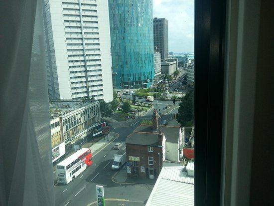 pentahotel Birmingham: Room view, Radisson Blue in distance and bullring visible