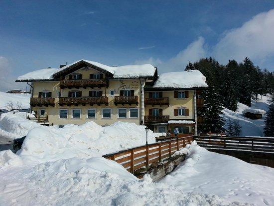 Hotel Seelaus: L'hotel visto dalla pista da sci