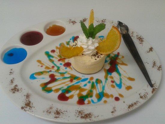 Le Cap : délice glacé au gd marnier,caramel a l orange
