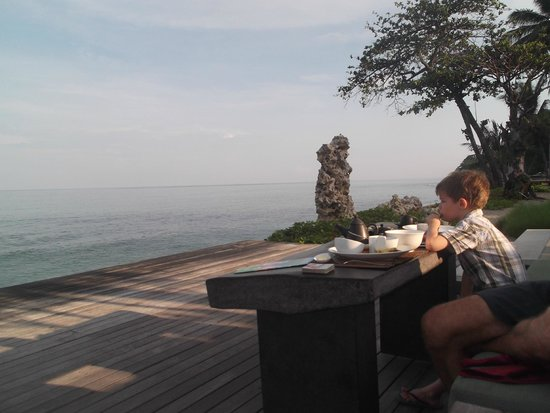 Qunci Villas Hotel: Breakfast view