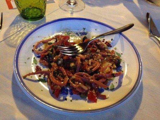 Hotel Mamma Santina: Insalata di totani