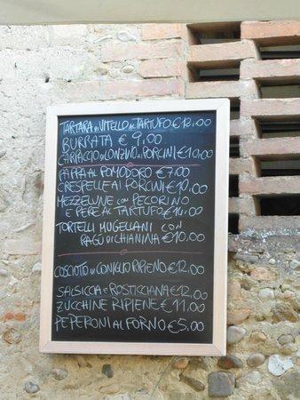 Osteria di Casa Chianti: Le altre portate in più possibili in quel giorno