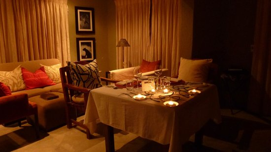 Dulini River Lodge: Surprise in-room meal prepared for last night