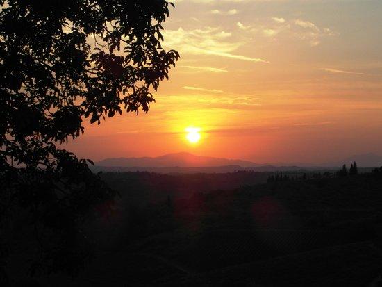Osteria di Casa Chianti: Il panorama dalla terrazza