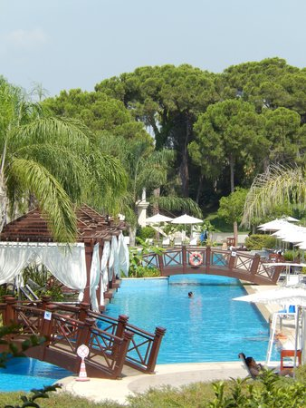 Ela Quality Resort Belek: Pool located to rear of the hotel