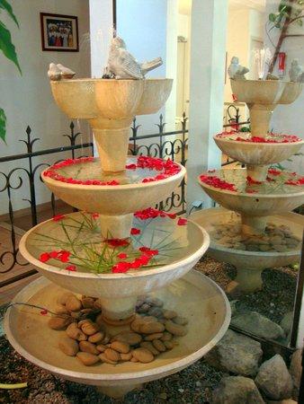 Hotel l'Amandiere : fontanella con petali di rose!