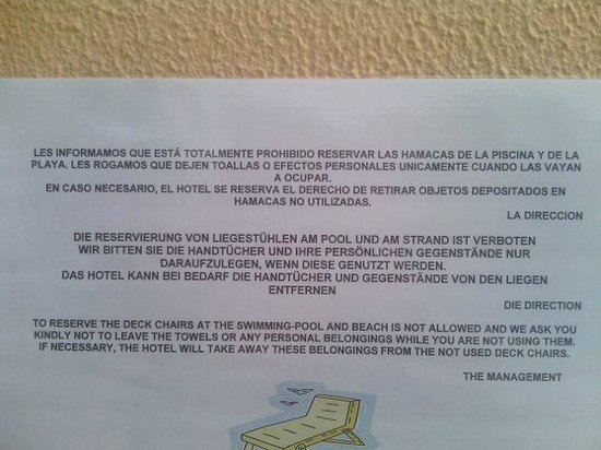 Hipotels Barrosa Garden: Mentira... no quitan nada