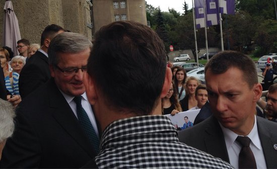 National Museum: The president of Poland making an impromptu visit to the museum.
