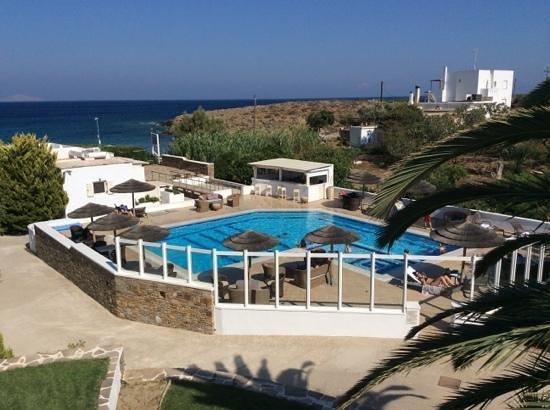 Ostria Inn: utsikten från balkongen