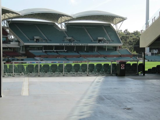 Adelaide Oval : A view of one of the grandstands