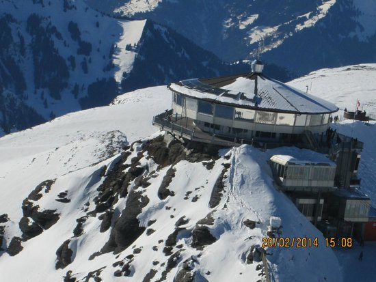 SCHILTHORN AS SEEN DURING OUR HELICOPTER OVERFLIGHT IN FEBRUARY 2014.