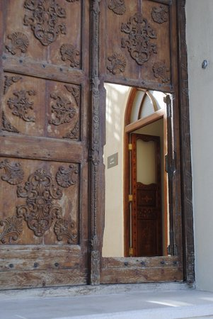 Sadu House: Main entrance of the House which is originally an old Kuwaiti house