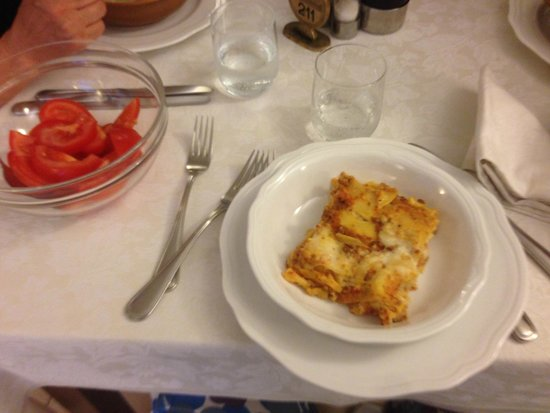 Hotel Villa Barsanti: lasagna ottima